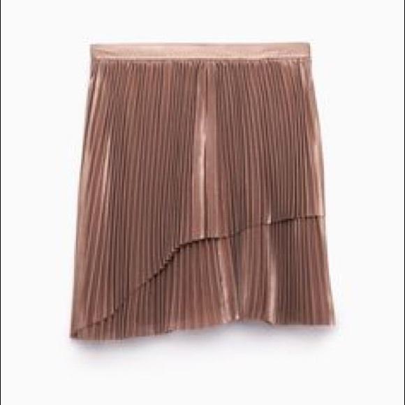 9452add79 Aritzia Skirts | Wilfred Rose Gold Bethune Skirt Bnwt | Poshmark